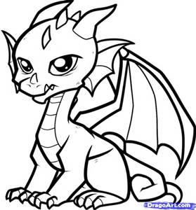 279x300 Cartoon Dragon Drawing