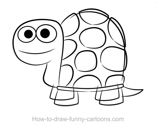 500x417 Coloring Pages Turtle Cartoon Drawing Drawings 002 Coloring