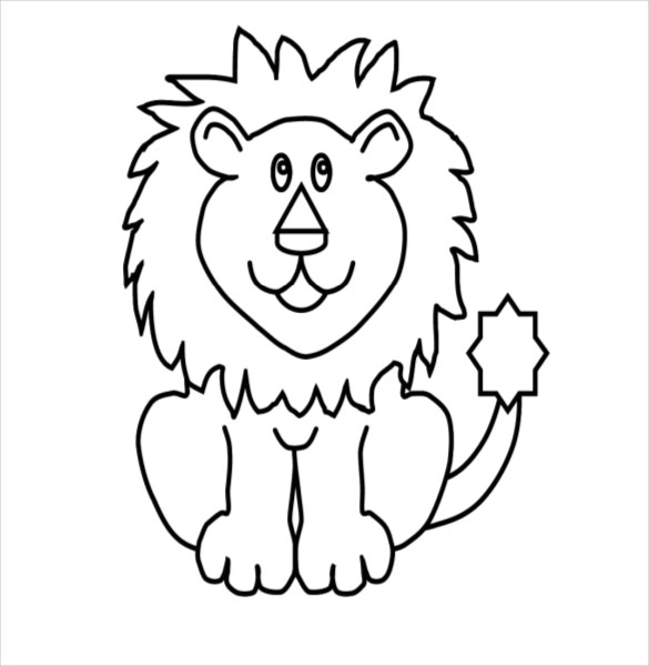 585x600 Lion Drawing Template – 15+ Free PDF Documents Download Free