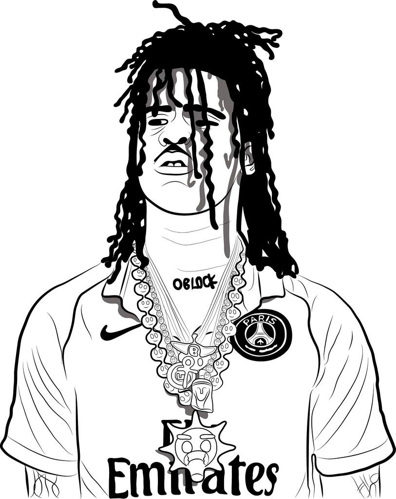 813x1024 Chief Keef Cartoon Drawing Michael Adedokun Flickr