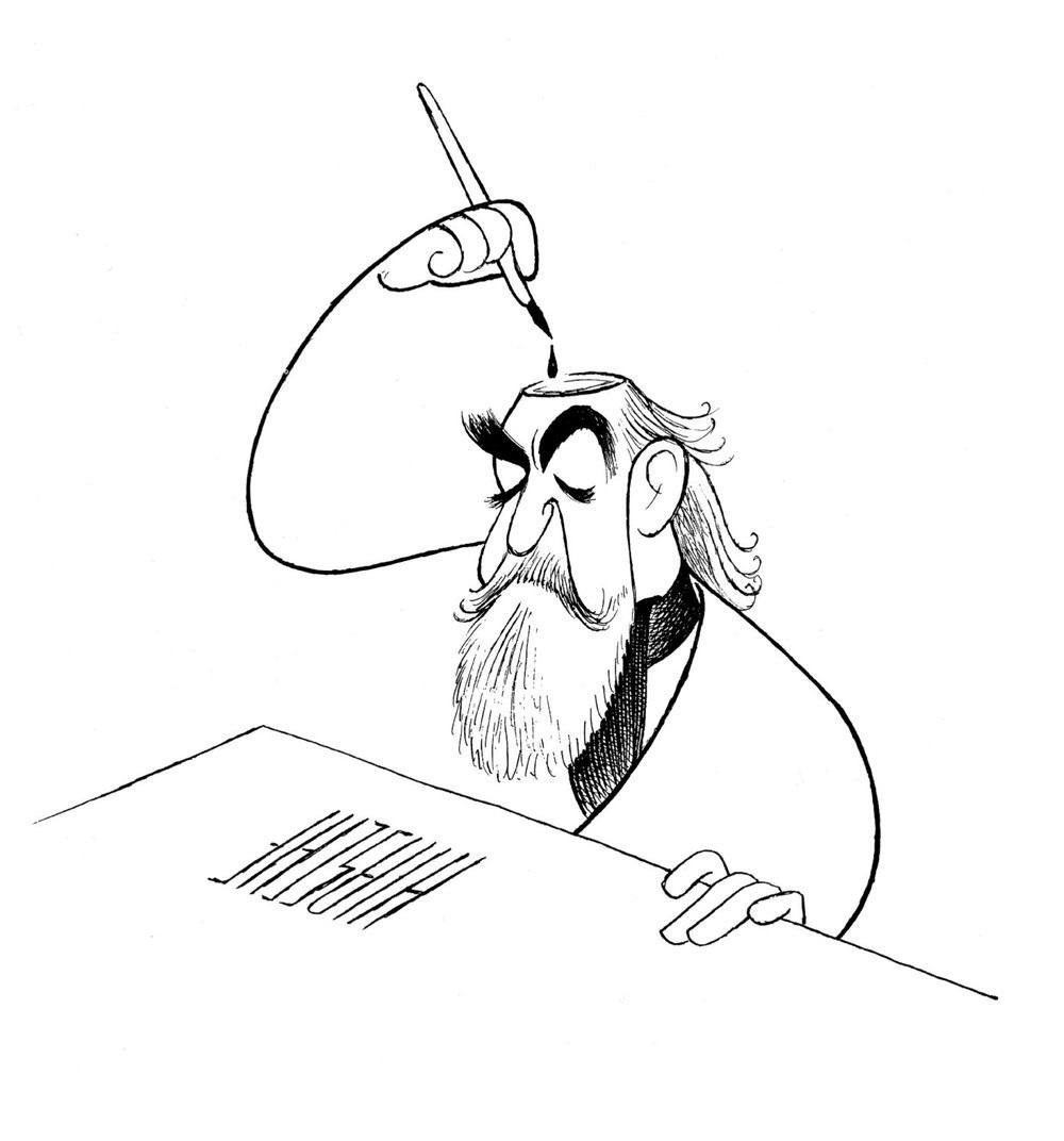 1000x1072 Al Hirschfeld Broadway's King Of Caricature