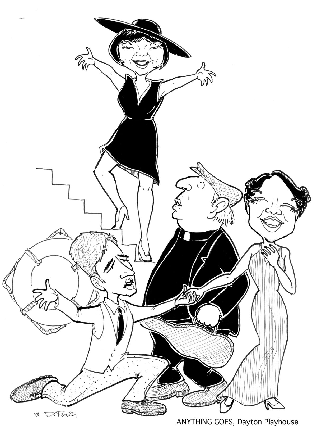 1200x1625 Theatre Caricatures, Caricature Of Actors Performing In Plays