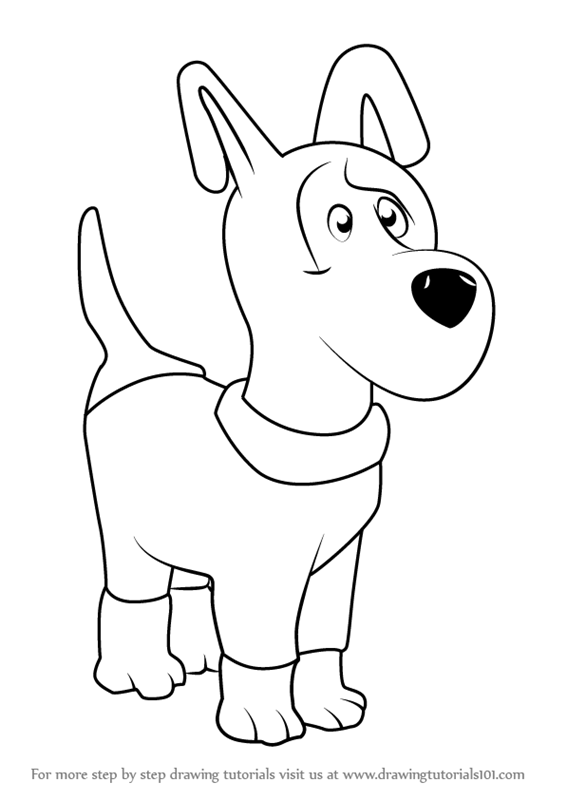 566x800 Learn How To Draw Dog From Masha And The Bear (Masha And The Bear