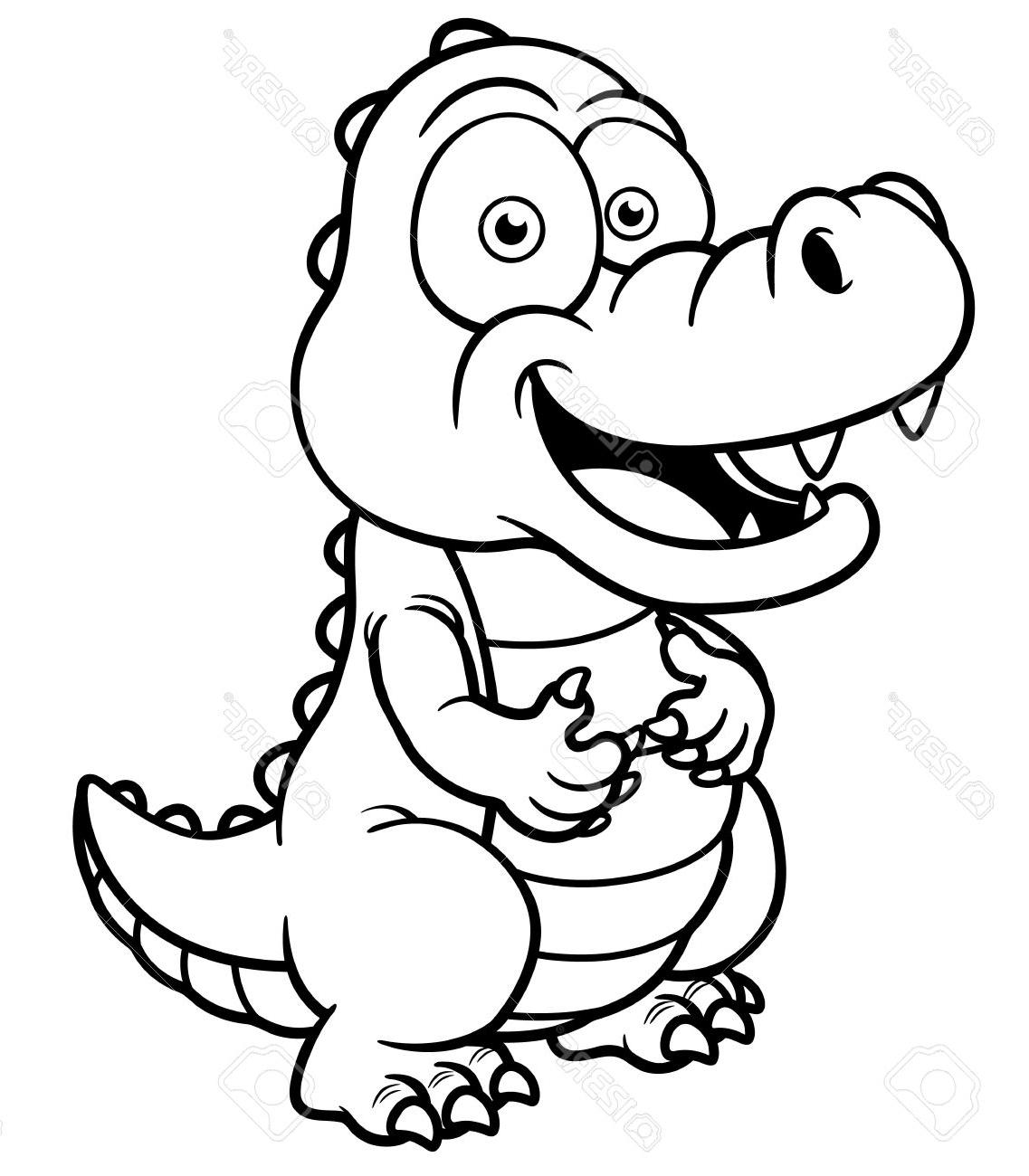 1137x1300 Crocodile How To Draw A Crocodile Cartoon Easy Sketch Drawing