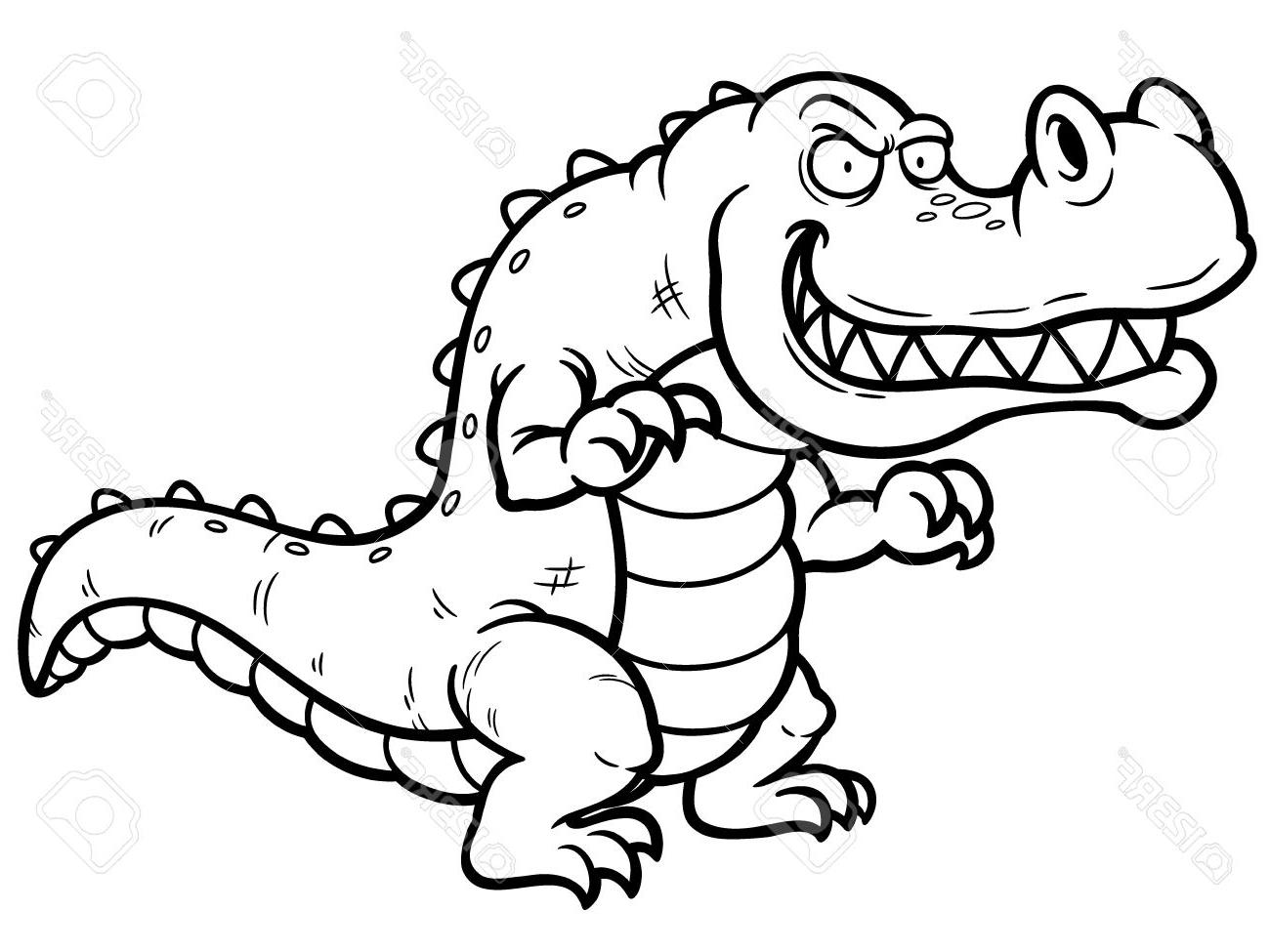1300x975 Crocodile Cartoon Drawing Crocodile How To Draw A Crocodile