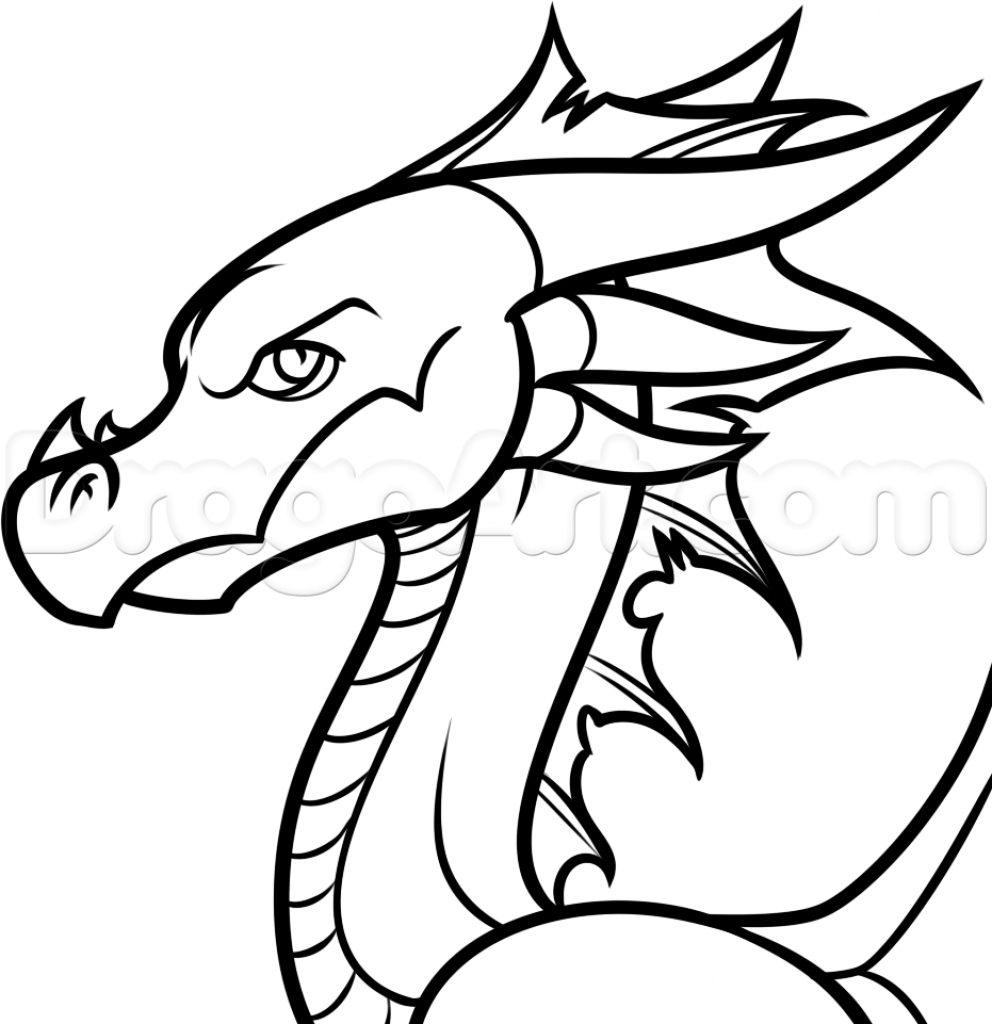 992x1024 Easy Cartoon Drawings How To Draw An Easy Cartoon Dragon Step Step