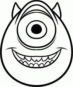 254x302 How To Draw Mike Wazowski Easy, Step By Step, Disney Characters
