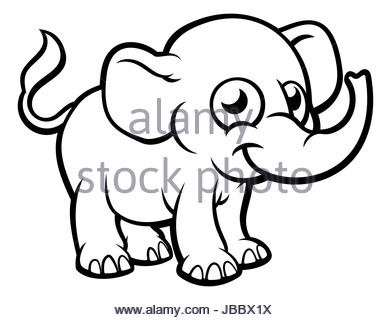 Cartoon Drawing Elephant