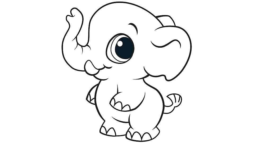 960x540 Cartoon Elephant Coloring Pages Of Page
