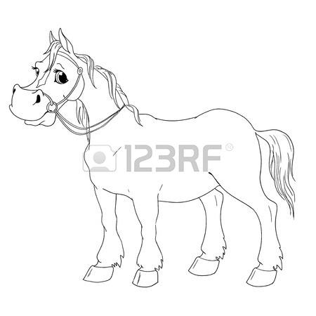 450x450 Horse Cartoon Character. Buckskin Suit. Horse Head Isolated