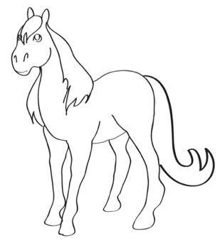 309x342 How To Draw Horses