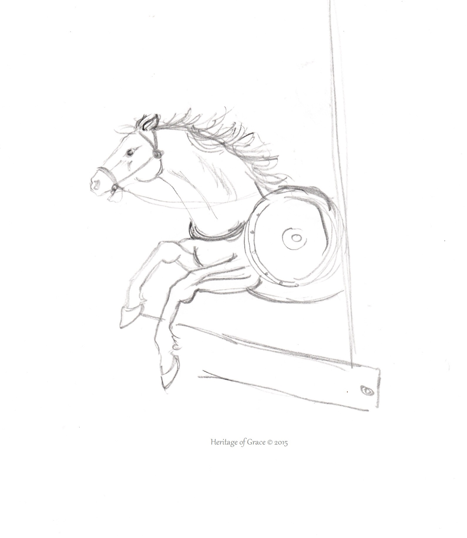 1590x1831 A Collection Of Horse Sketches Apologetics Girl