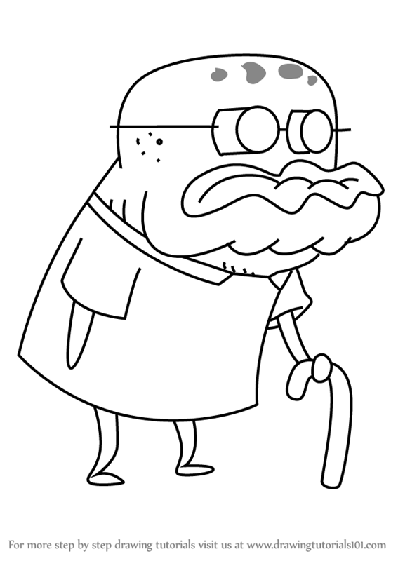 567x800 Learn How To Draw Old Man Jenkins From Spongebob Squarepants