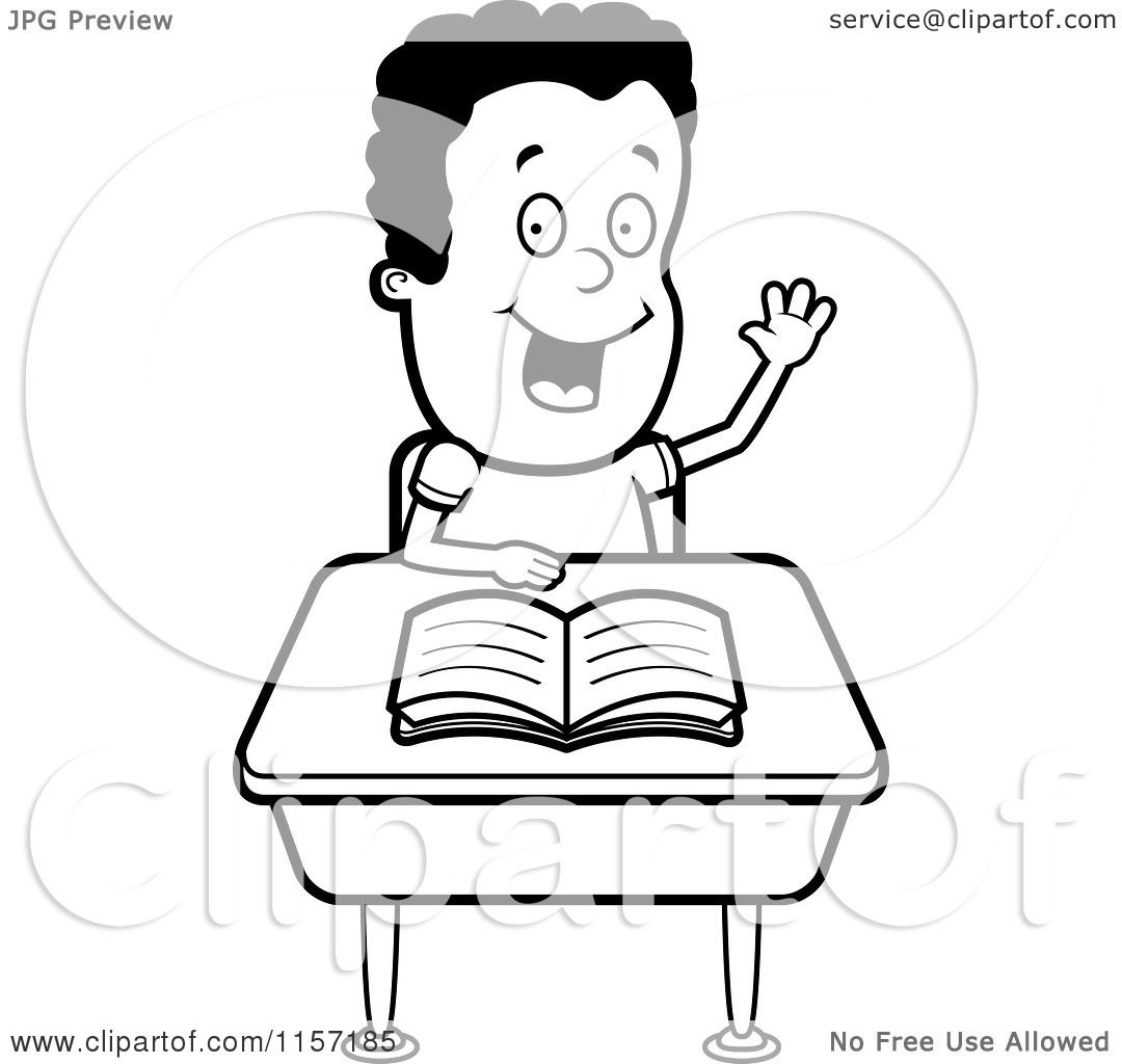 1080x1024 Cartoon Clipart Of A Black And White Smart Boy Sitting