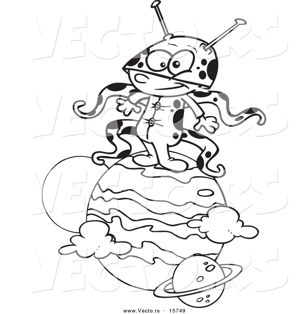 1024x1044 Vector Of A Cartoon Boy Alien On A Planet