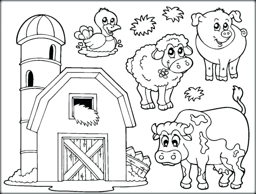 970x736 Free Farm Animal Coloring Pages Farm Animals Pictures To Color