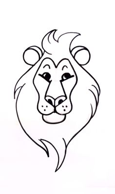 Cartoon Drawing Of A Lion