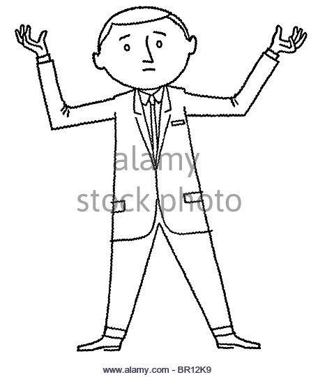 456x540 Cartoon Style Drawing Confused Man Stock Photos Amp Cartoon Style