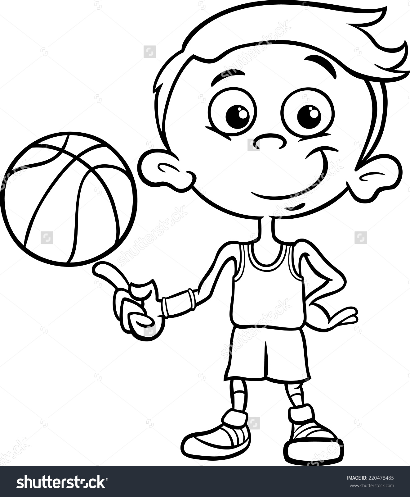 1322x1600 Boy Cartoon Clipart Black And White