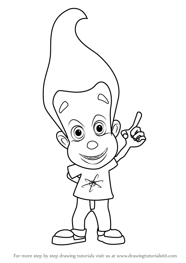 596x843 Learn How To Draw Jimmy Neutron From Jimmy Neutron Boy Genius