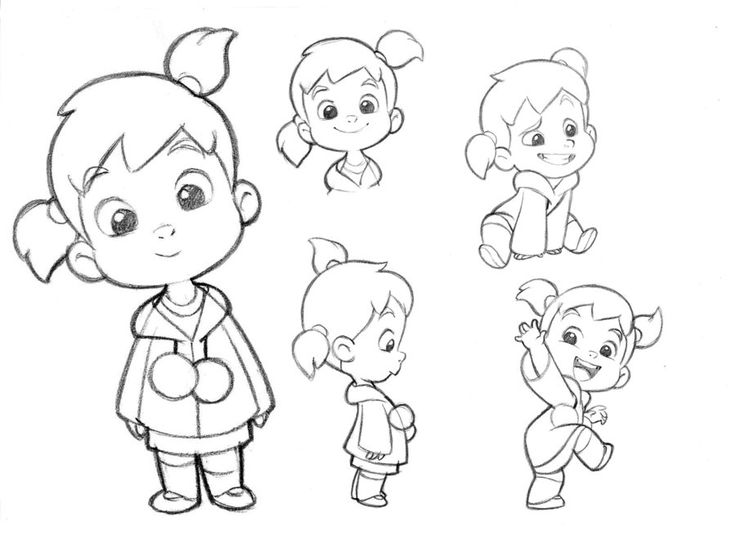 736x534 Cartoon Boys And Girls Black And White Collection