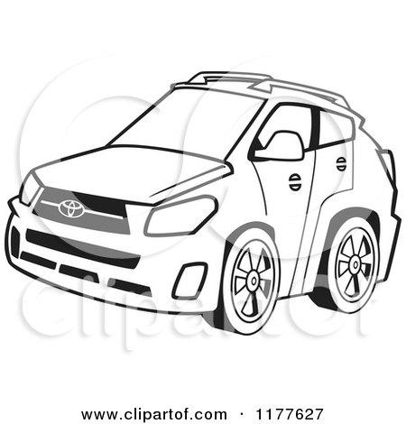 450x470 Cartoon Of An Outlined An Outlined Four Door Car