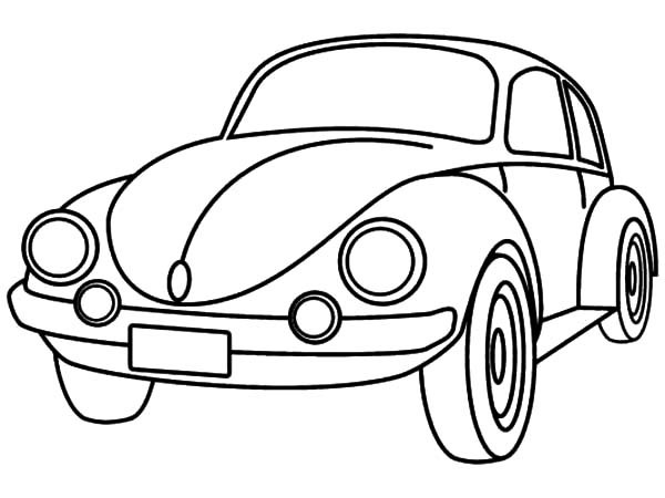 free cars cartoon coloring pages | Cartoon Drawing Of Car at GetDrawings.com | Free for ...