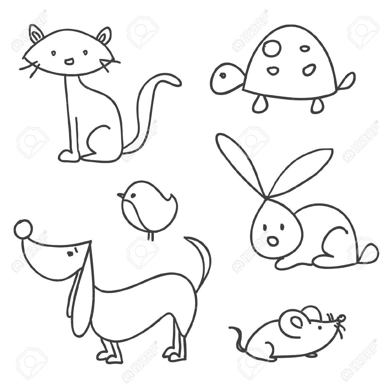 1300x1296 Drawn Cat Cartoon