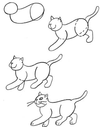 322x410 How To Draw Cats And Kittens.