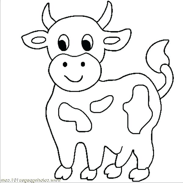 600x600 Cow Coloring Book Pages