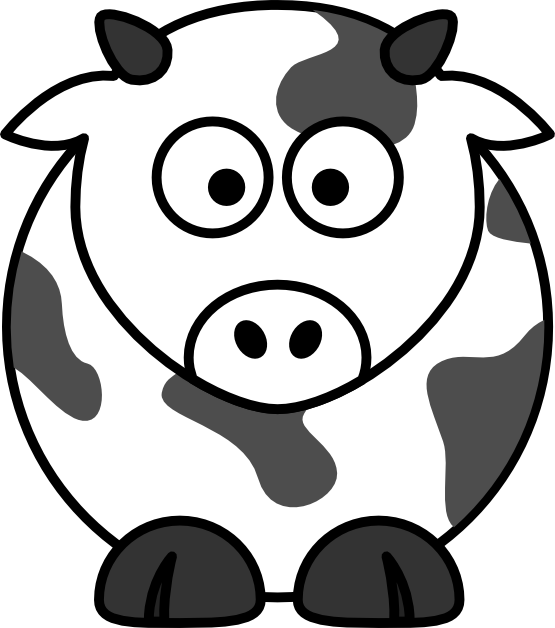 555x628 Cow Line Art