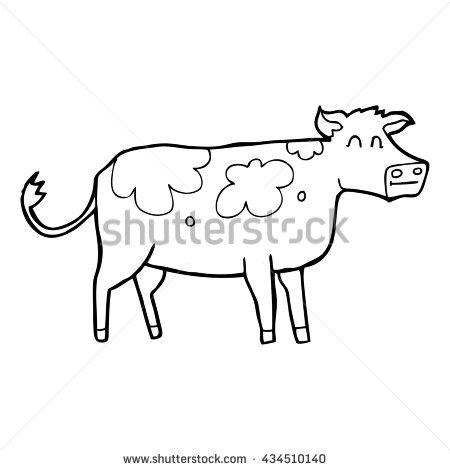 450x470 Drawn Cattle Cartoon