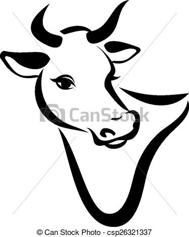 374x470 Drawn Cow Simple