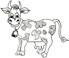 236x197 How To Draw Cartoon Cows Farm Animals Step By Step Drawing