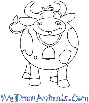 300x350 How To Draw Clarabelle Cow