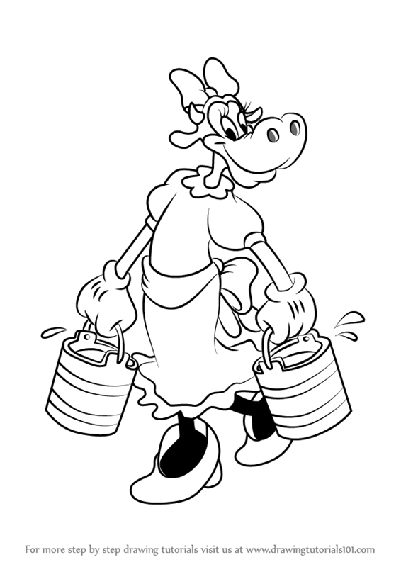566x800 Learn How To Draw Clarabelle Cow From Mickey Mouse Clubhouse