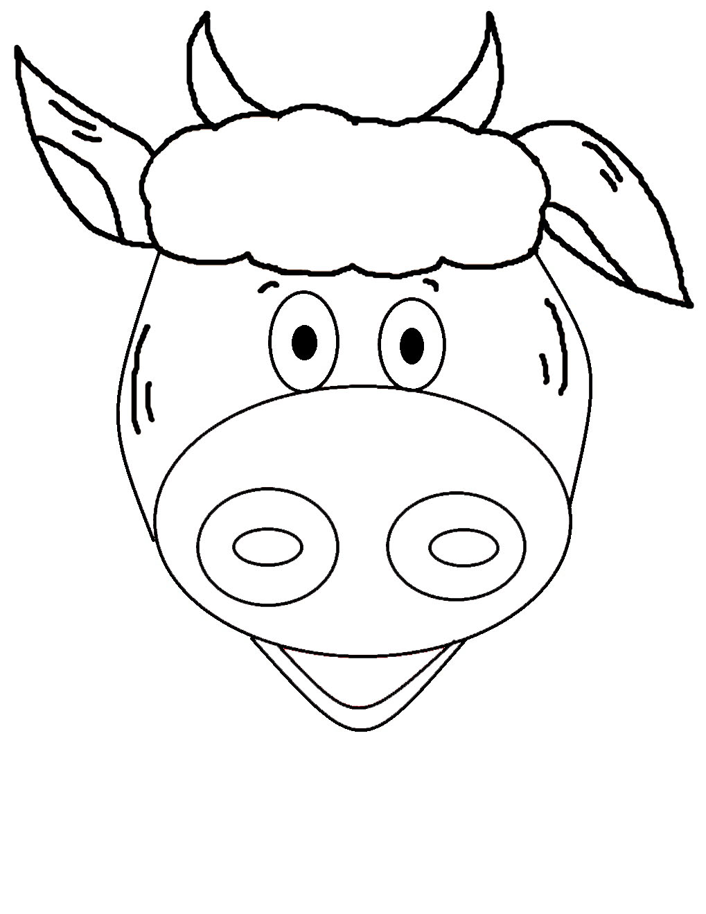 1019x1319 Adult Cow Face Drawing Cow Face Drawing Easy. Cow Face Cartoon