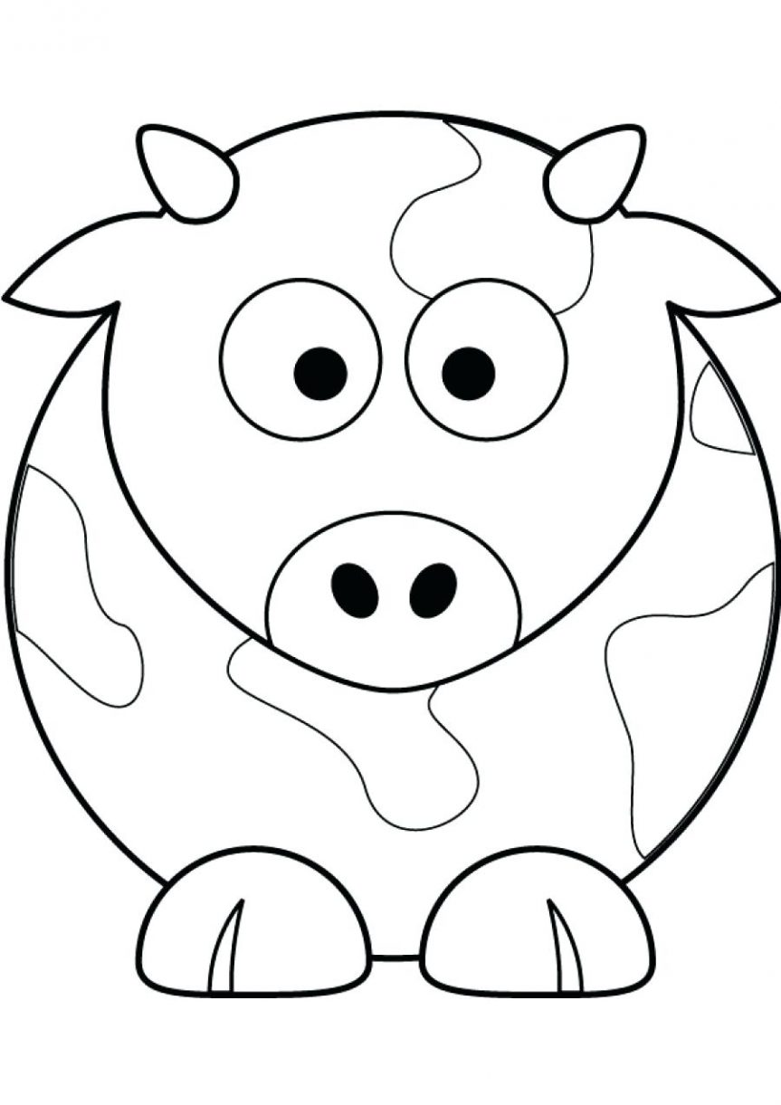 863x1221 How To Draw Cow Coloring Page. Cute Cow And Bumblebee Coloring