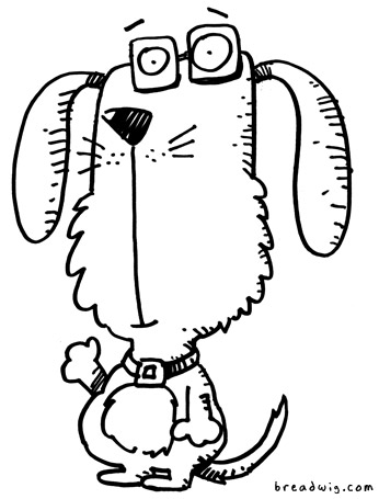 Cartoon Drawing Of Dog