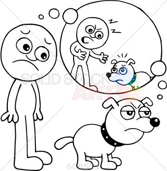 340x347 Stock Illustration Of Cartoon Sketch Outline Of Dog Angry Over