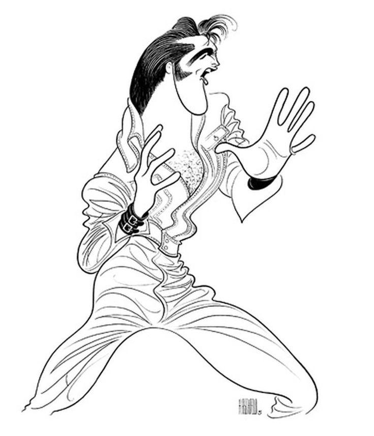 Cartoon Drawing Of Elvis