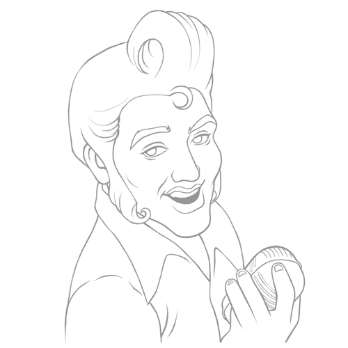 500x500 Elvis Presley Famous Actors Caricature How To Draw