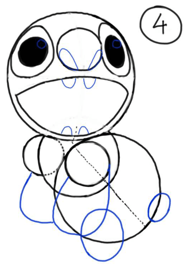 370x530 How To Draw Stitch From Lilo And Stitch With Easy Steps Drawing