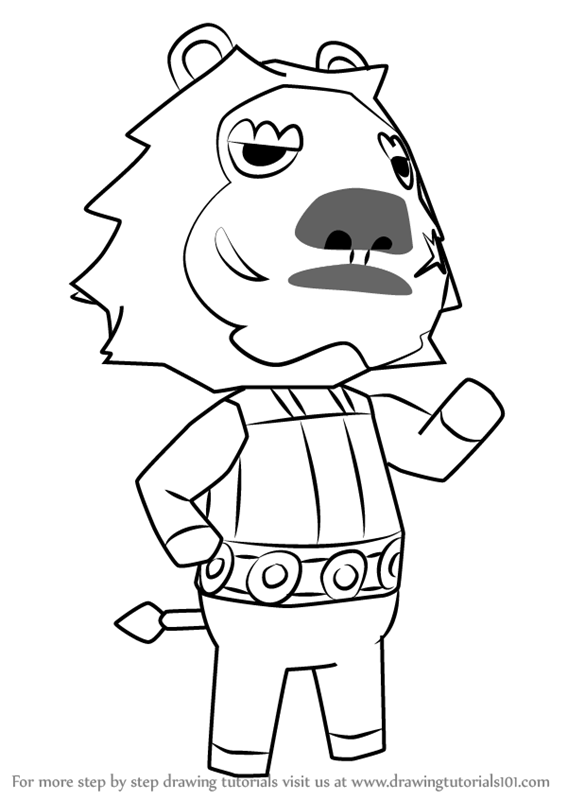 567x800 Learn How To Draw Elvis From Animal Crossing (Animal Crossing