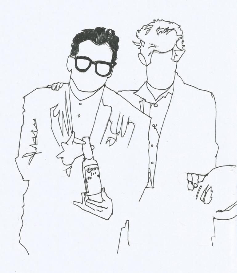770x886 Saatchi Art Elvis Amp Tom Drawing By Jaime Vera