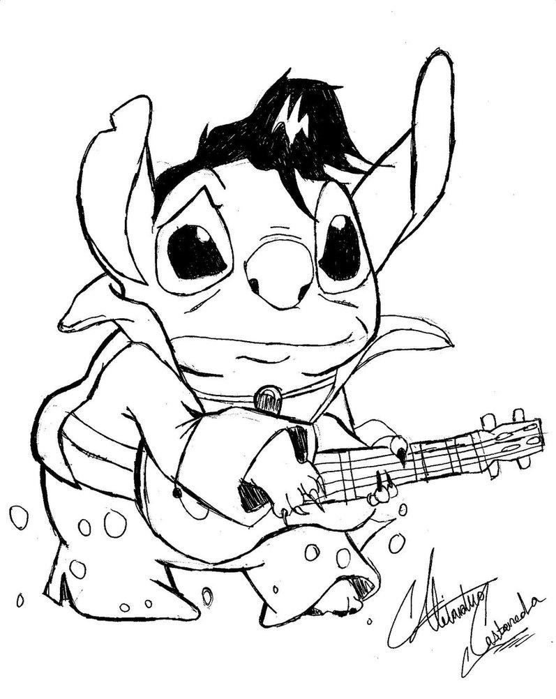 797x1002 Elvis Stitch By Blackmagiccomicco