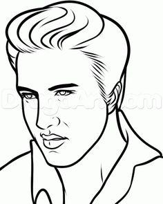 236x295 How To Draw Elvis, Elvis Presley Step 8 Elvis Drawing