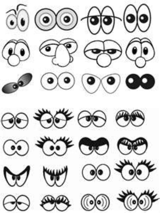 Cartoon Drawing Of Eyes