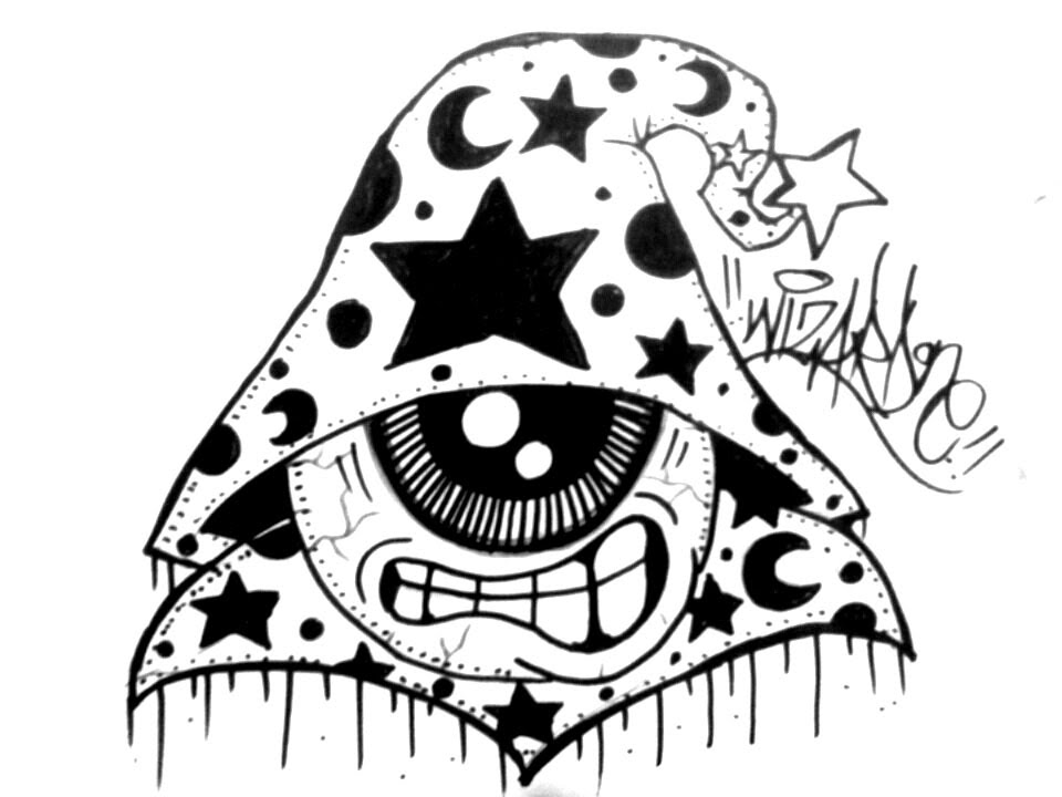 960x720 How To Draw A One Eye Wizard Character