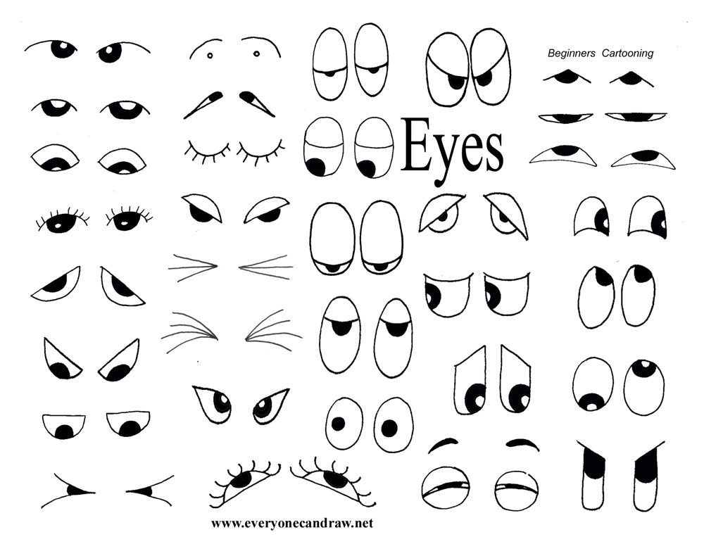 1000x773 Drawing Helps For Eyes, Mouths, Faces, And More Party